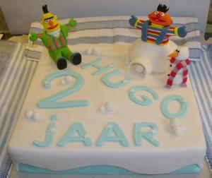 Glutenvrije Bert en Ernie Taart